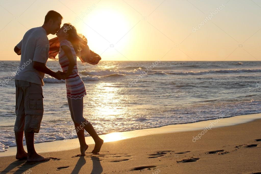 Romantic Couple at Sunset  Stock Photo #12168233
