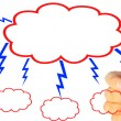 Businessman Drawing Cloud — Photo