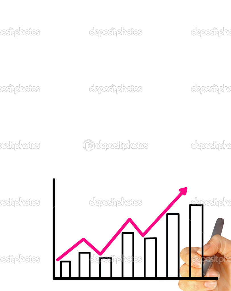 Business hand drawing graph — Stock Photo #12170322