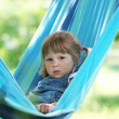 Little girl on a hammock - Foto de Stock