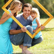 Family in a frame — Stock Photo