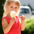 Kid with ice cream — Stock Photo #13414102