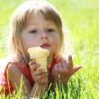 Kid with ice cream — Stock Photo