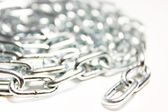 Background of the metal chain — Stock Photo