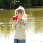Beautiful little girl on nature — Stock Photo #13831950