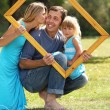 Stock Photo: Family in a frame