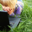 Girl with laptop — Stock Photo #14249501