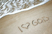 Writing on the sand — Stock Photo