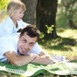 Young father with his daughter — Stock Photo