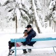 Couple in winter park — Stock Photo #18005969
