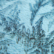 Frost on glass background — Stockfoto