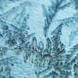 Foto Stock: Frost on glass background