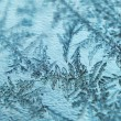 Frost on glass background — Stock Photo