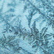 Frost on glass background - Stock Photo