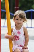 Little girl on nature — Stock Photo