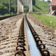 Railroad and Train — Stock Photo