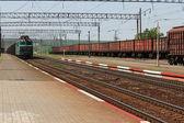 Ferrocarril y tren — Foto de Stock