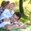 Family at picnic - Foto Stock