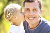 Young father with little daughter — Stock Photo
