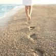 Footprints in the sand — Stock Photo #28468583