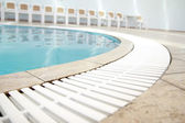 Steps in a water pool — Stock Photo