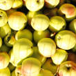 Background of green apples — Stock Photo