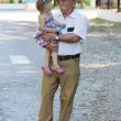 Grandfather with his granddaughter — Stock Photo