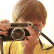 Stock Photo: Child with old camera