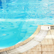 Stock Photo: One blue water swimming pool