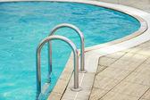 Steps in pool — Stock Photo