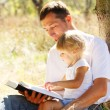 Father with  daughter reads the Bible — Stock Photo #48139831