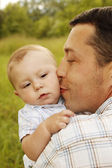 Little boy with father — Stock Photo