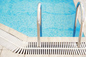 Swimming pool stairs — Stock Photo