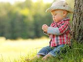 Cowboy baby — Stockfoto