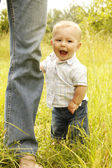 Little boy with father — Foto de Stock