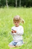 Garota na natureza — Fotografia Stock