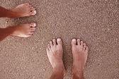 Love couple footprints — Stock Photo