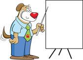 Hond met een grafiek — Stockvector