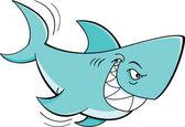 Cartoon shark — Stock Vector