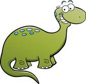 Brontosaurio feliz — Vector de stock