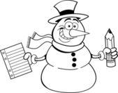 Snowman Student — Stock Vector