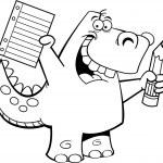 Student Dinosaur — Stock Vector #13279740