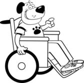 Dog in a wheelchair — Stock Vector