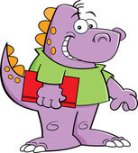 Chico de dinosaurio — Vector de stock