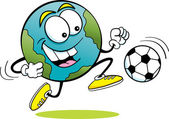 Soccer Earth — Stok Vektör