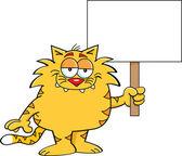 кошка с знак — Cтоковый вектор