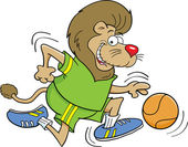 Basketbalové lev — Stock vektor
