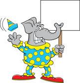 Cartoon Clown Elephant — Stock Vector
