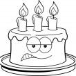 Stock Vector: Cartoon angry cake