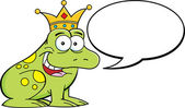 Cartoon frog wearing a crown — Stock Vector